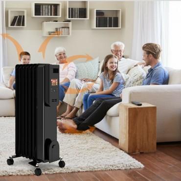 1500W LCD Electric Radiator Heater W / Remote Control
