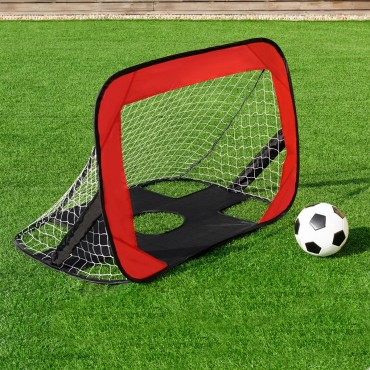 Portable 2 in 1 Pop Up Kids Soccer Goal Net With Carry Bag