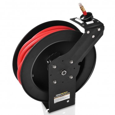 3/8 In. x 50 Ft. Auto Rewind Retractable Air Hose Reel Compressor