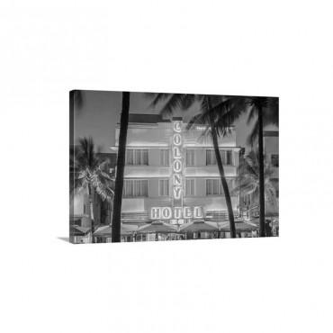 Art deco district, Ocean Drive, South Beach, Miami Beach, Miami, Florida Wall Art - Canvas – Gallery Wrap