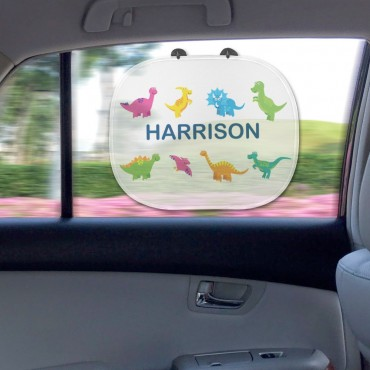 Dinosaurs Personalized Name Sunshade