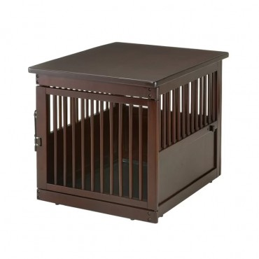 Richell End Table Wood Dog Crate