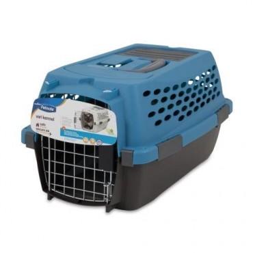 Petmate Vari Kennel Ultra - Breeze Blue Coffee Brown - Dogs up to 10 lbs - 19 L x 12.6 W x 10 H