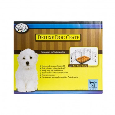 Four Paws K-9 Keeper Delux Crate with Double Door - Dogs up to 25 lbs 24 L x 18 W x 21 H