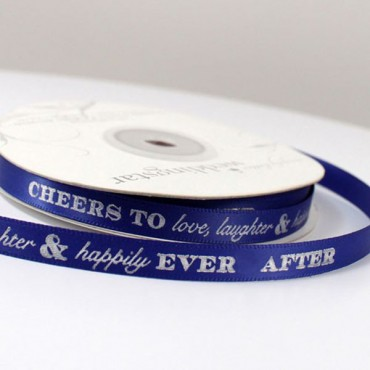 Cheers To Love, Laughter, And Happily Ever After Ribbon