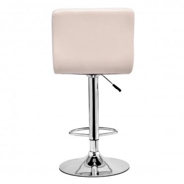 Set Of 2 Modern PU Leather Swivel Bar Stools