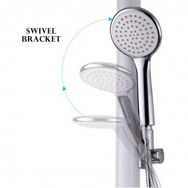 48 In. Aluminium Alloy Shower Column W/ Hand And Head Shower