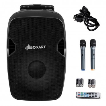 Portable 12 In. 2 - Way 600 W Bluetooth Music Rechargeable Powered Speaker