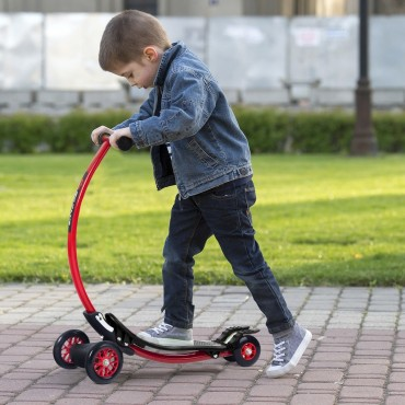Aluminum Foldable Kick U Shape Kids Scooter