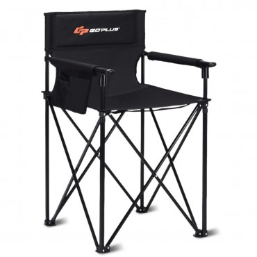 Portable 38 In. Oversized High Camping Fishing Folding Chair