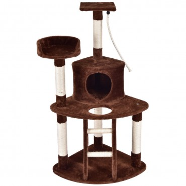 48 In. Cat Tree Activity Tower Perches Scratching Posts
