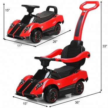 2 in 1 Electric Kids Ride On Push Around Car