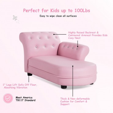 Armrest Relax Chaise Lounge Kids Sofa