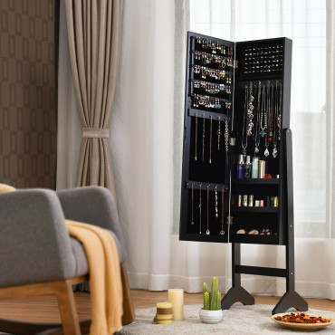 Attractive Rectangle Mirrored Jewelry Cabinet