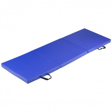 6 Ft. x 2 Ft. Tri-Fold Exercise Gymnastics Mat With Carrying Handles