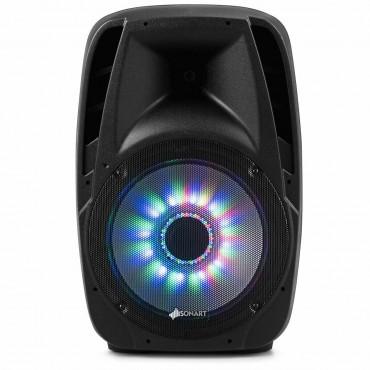 15 In. 2000W 2 - Way Powered Speaker With Illuminating Light