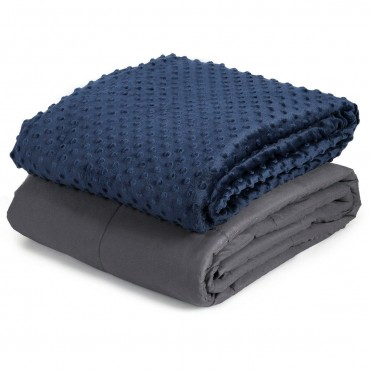 15 lbs 48 In. x 72 In. Weighted Blanket With Glass Bead