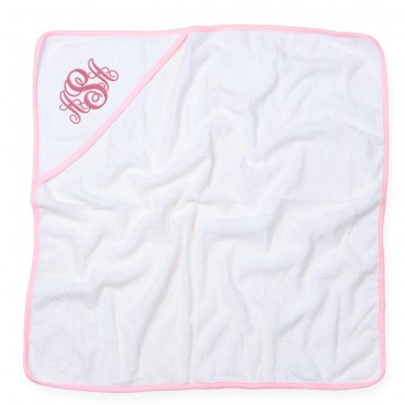 Embroidered Monogram Baby Hooded Bath Towel