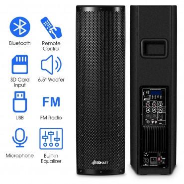 1000W Bi - Amplified PA System 3 - Channel Bluetooth Speaker
