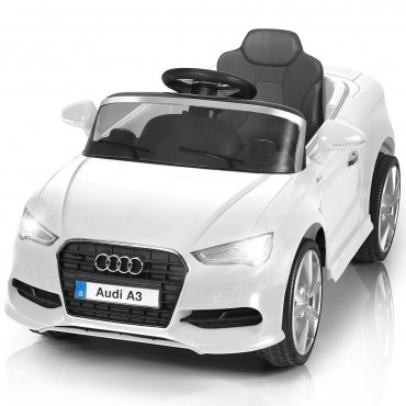12 V Audi A3 Kids Ride On Car With RC + LED Light + Music
