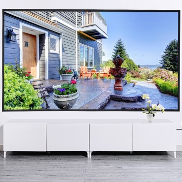 120 In. 16:9 Roll Easily PVC Fabric Home Portable Projector Screen
