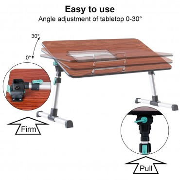 Portable Height Adjustable Laptop Tray Table W / Cooling Fan