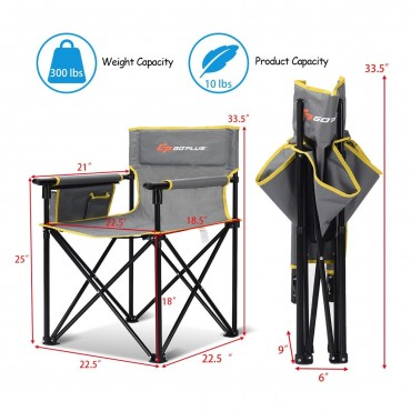 Outdoor Beach Chair Portable Folding Fishing Camping Chair