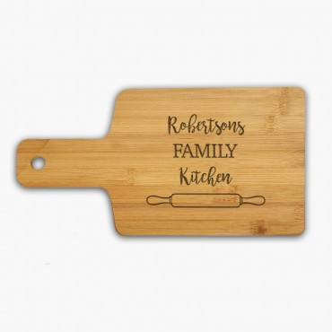Family Kitchen Personalized Name Serving Board