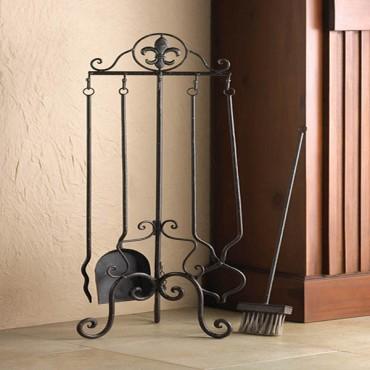 Fleur-De-Lis Fireplace Tool Set
