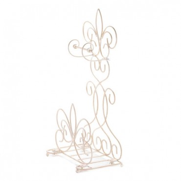 Fleur De Lis Standing Toilet Paper Holder Rack