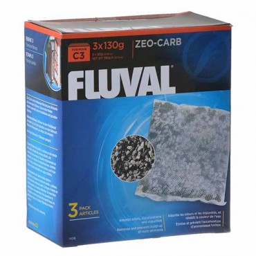 Fluval Zeo-Carb Filter Bags - For C3 Power Filter - 3 Pack - 2 Pieces