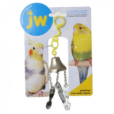 JW Insight Fork, Knife and Spoon Bird Toy - Fork, Knife and Spoon Bird Toy - 4 Pieces