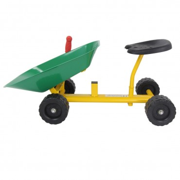8 In. Heavy Duty Kids Ride-On Sand Dumper With 4 Wheels