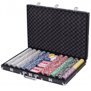 1000 Poker Chips Set With Aluminum Case