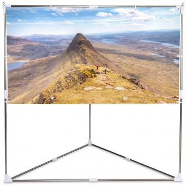 80 In. 16:9 HD Triangle Stand Portable Projector Screen W / Carry bag