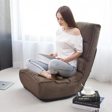 4-Position Adjustable Floor Chair Folding Lazy Sofa
