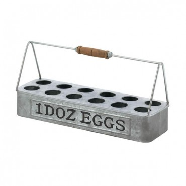 Galvanized Metal Egg Basket