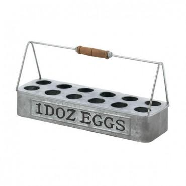 Galvanized Metal Egg Basket
