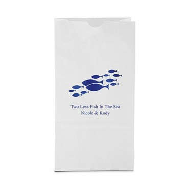 Of All The Fish In The Sea Block Bottom Gusset Paper Goodie Bags - Package of 25