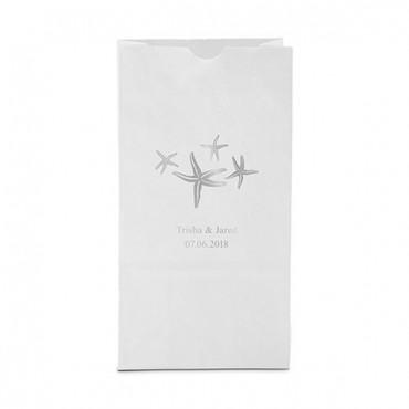Starfish Block Bottom Gusset Paper Goodie Bags - Package of 25
