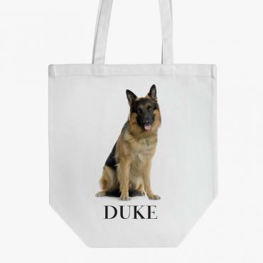 German Shepherd Custom Cotton Dog Tote Bag