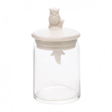 Glass Owl Jar