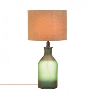 Gradient Green Bottle Table Lamp