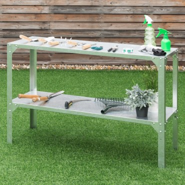 Galvanized Steel Workbench Greenhouse Work Potting Table