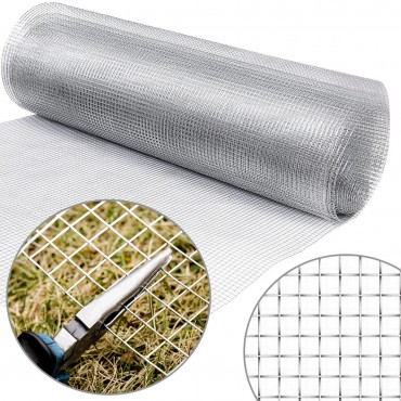 36 In. x 50 In. 1/2 Inch Wire Fence Cage Roll 19 Gauge Galvanized Wire