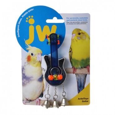 JW Insight Guitar - Bird Toy - Guitar Bird Toy - 4 in. Long x 3 in. Wide - 2 Pieces