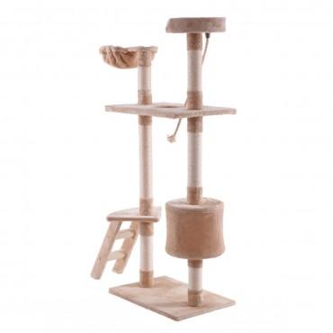 60 In. Tower Condo Scratcher Kitten Pet Hammock Cat Tree