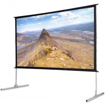 120 In. 16:9 Home Front Portable Foldaway Projector Screen