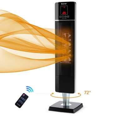 1500W Portable Tower Heater W / Timer Remote Control