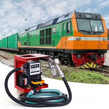 110V Electric Diesel Oil Pump With Meter Plue 13 Ft. Hose And Nozzle